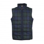 Light and Warm Tweed Body Warmer - Obelix- Navy Tartan