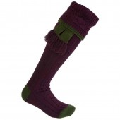 purple shooting socks with green ribbon ness john field