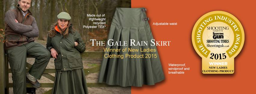 john field shooting industry award - rain skirt gale